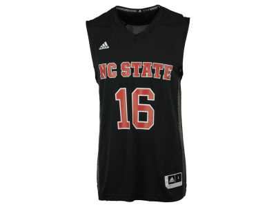 North Carolina State Wolfpack #16 adidas NCAA Men's Iced Out Replica Basketball Jersey