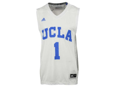 UCLA Bruins #1 adidas NCAA Men's Iced Out Replica Basketball Jersey
