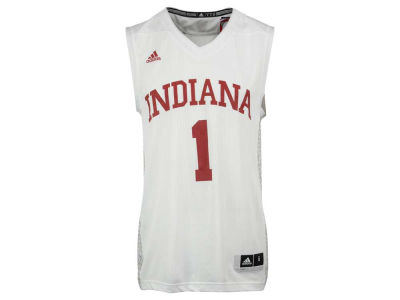 Indiana Hoosiers #1 adidas NCAA Men's Iced Out Replica Basketball Jersey