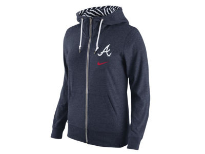 Atlanta Braves Nike MLB Women's Gym Vintage Full Zip Hoodie