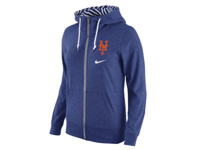 New York Mets Nike MLB Women's Gym Vintage Full Zip Hoodie