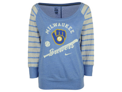 Milwaukee Brewers Nike MLB Women's Coop Gym Vintage Crew Sweatshirt