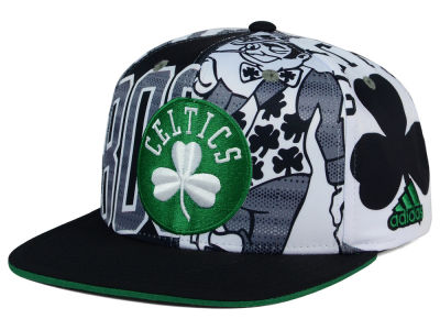 Boston Celtics adidas NBA 2016 All Team Screen Print Snapback Cap