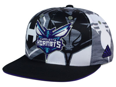 Charlotte Hornets adidas NBA 2016 All Team Screen Print Snapback Cap
