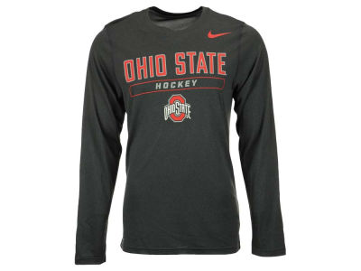 Ohio State Buckeyes NCAA Men's Hockey Dri-Fit Long Sleeve T-Shirt