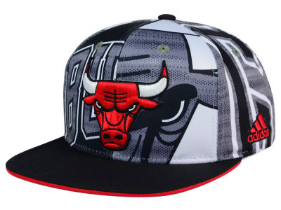 Chicago Bulls adidas NBA 2016 All Team Screen Print Snapback Cap