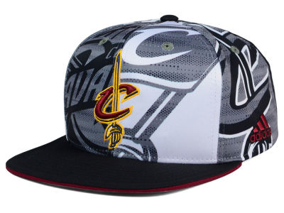 Cleveland Cavaliers adidas NBA 2016 All Team Screen Print Snapback Cap