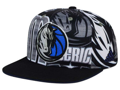 Dallas Mavericks adidas NBA 2016 All Team Screen Print Snapback Cap
