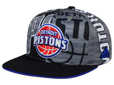 Detroit Pistons adidas NBA 2016 All Team Screen Print Snapback Cap