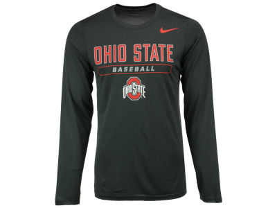Ohio State Buckeyes NCAA Men's Baseball Dri-Fit Long Sleeve T-Shirt