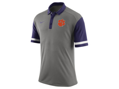 Clemson Tigers Nike NCAA Men's Stadium Team First Stripe Polo Shirt