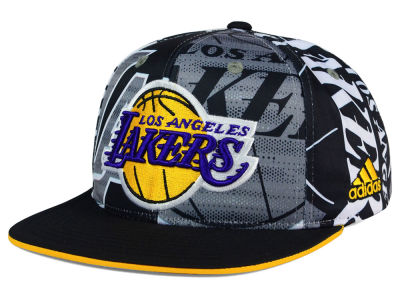 Los Angeles Lakers adidas NBA 2016 All Team Screen Print Snapback Cap