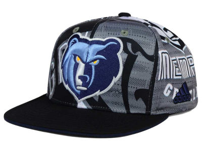 Memphis Grizzlies adidas NBA 2016 All Team Screen Print Snapback Cap