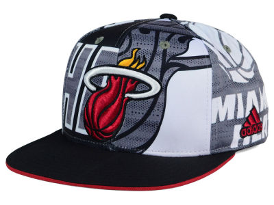 Miami Heat adidas NBA 2016 All Team Screen Print Snapback Cap