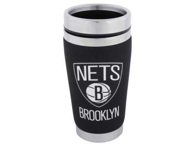 Brooklyn Nets 16oz Stainless Steel Travel Tumbler