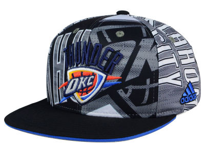 Oklahoma City Thunder adidas NBA 2016 All Team Screen Print Snapback Cap