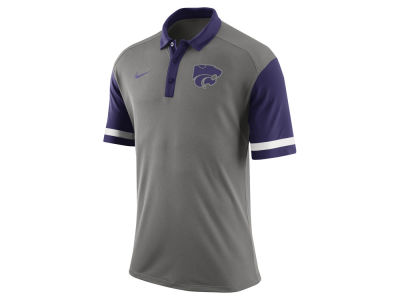 Kansas State Wildcats Nike NCAA Men's Stadium Team First Stripe Polo Shirt