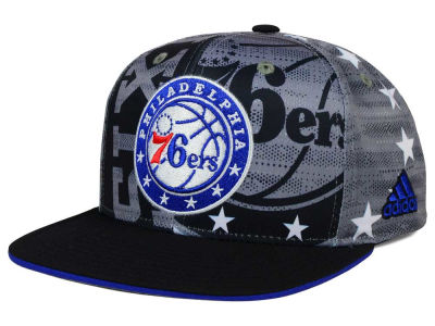 Philadelphia 76ers adidas NBA 2016 All Team Screen Print Snapback Cap