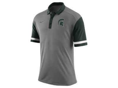 Michigan State Spartans Nike NCAA Men's Stadium Team First Stripe Polo Shirt