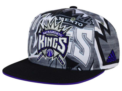 Sacramento Kings adidas NBA 2016 All Team Screen Print Snapback Cap