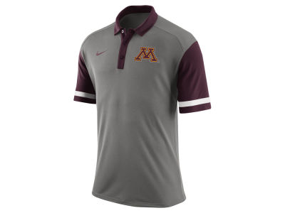 Minnesota Golden Gophers Nike NCAA Men's Stadium Team First Stripe Polo Shirt