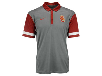 USC Trojans Nike NCAA Men's Stadium Team First Stripe Polo Shirt