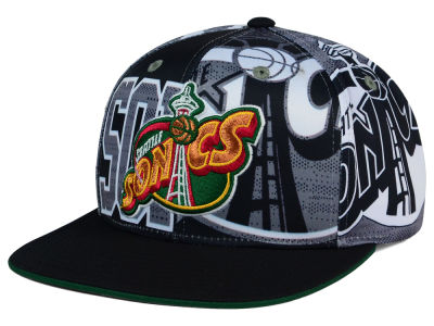 Seattle SuperSonics adidas NBA 2016 All Team Screen Print Snapback Cap