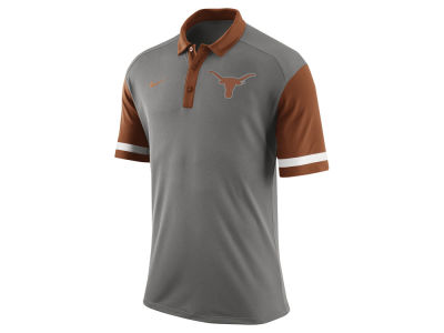 Texas Longhorns Nike NCAA Men's Stadium Team First Stripe Polo Shirt