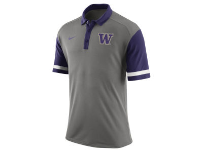 Washington Huskies Nike NCAA Men's Stadium Team First Stripe Polo Shirt