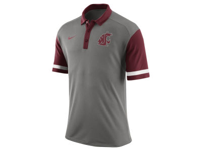 Washington State Cougars Nike NCAA Men's Stadium Team First Stripe Polo Shirt