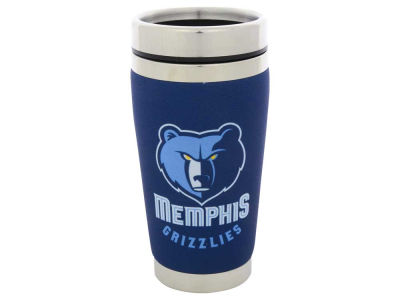 Memphis Grizzlies 16oz Stainless Steel Travel Tumbler