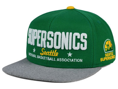 Seattle SuperSonics adidas NBA Chain Star Snapback Cap