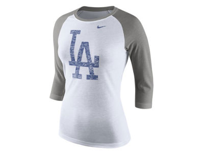 Los Angeles Dodgers Nike MLB Women's Tri Logo Raglan T-Shirt