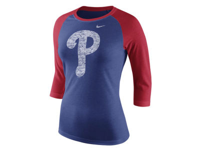 Philadelphia Phillies Nike MLB Women's Tri Logo Raglan T-Shirt