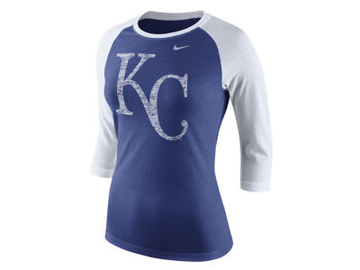 Kansas City Royals Nike MLB Women's Tri Logo Raglan T-Shirt