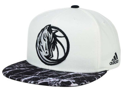 Dallas Mavericks adidas NBA 2016 White Marble Snapback Cap