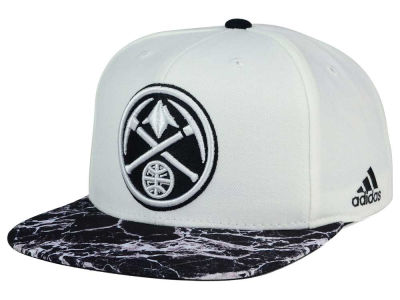 Denver Nuggets adidas NBA 2016 White Marble Snapback Cap