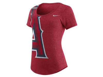 Los Angeles Angels Nike MLB Women's Marled Scoop Logo T-Shirt