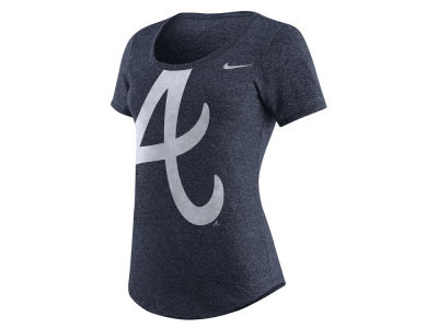 Atlanta Braves Nike MLB Women's Marled Scoop Logo T-Shirt