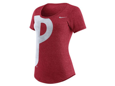 Philadelphia Phillies Nike MLB Women's Marled Scoop Logo T-Shirt