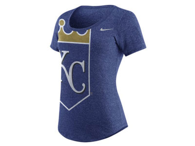Kansas City Royals Nike MLB Women's Marled Scoop Logo T-Shirt