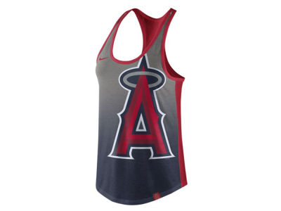 Los Angeles Angels Nike MLB Women's Triblend Fade Tank