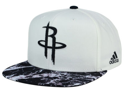 Houston Rockets adidas NBA 2016 White Marble Snapback Cap