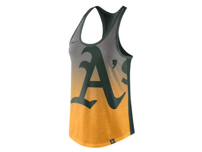 Oakland Athletics Nike MLB Women's Triblend Fade Tank