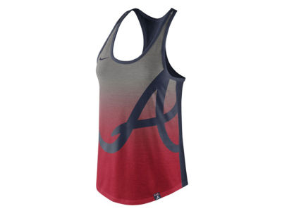 Atlanta Braves Nike MLB Women's Triblend Fade Tank