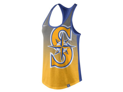 Seattle Mariners Nike MLB Women's Triblend Fade Tank