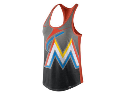 Miami Marlins Nike MLB Women's Triblend Fade Tank
