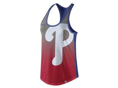 Philadelphia Phillies Nike MLB Women's Triblend Fade Tank