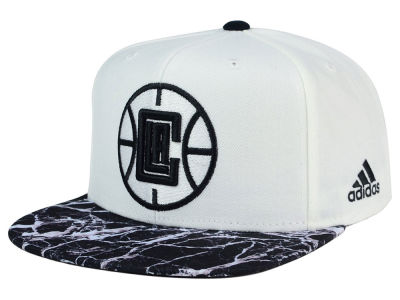 Los Angeles Clippers adidas NBA 2016 White Marble Snapback Cap