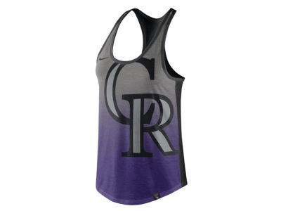 Colorado Rockies Nike MLB Women's Triblend Fade Tank